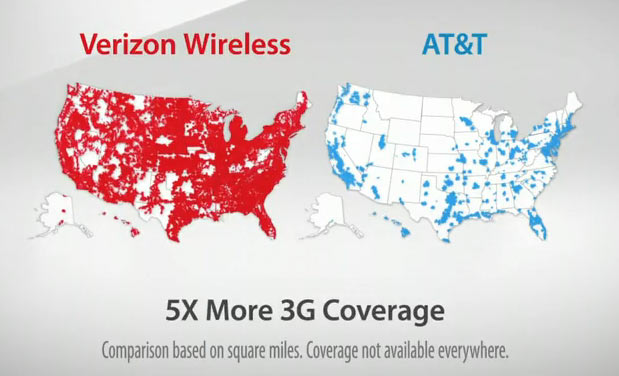 verizon wireless vs att wireless coverage maps